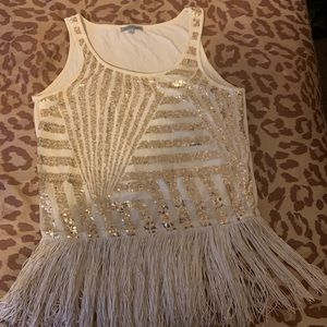 Charlotte Russe Tops - Sequin and tassel comb!